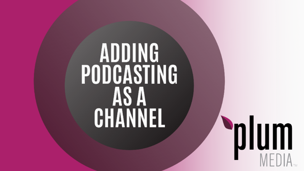 adding podcasting as a channel