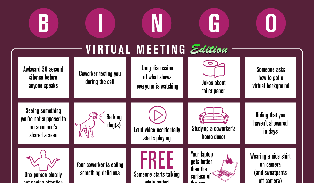 virtual meeting bingo plum media