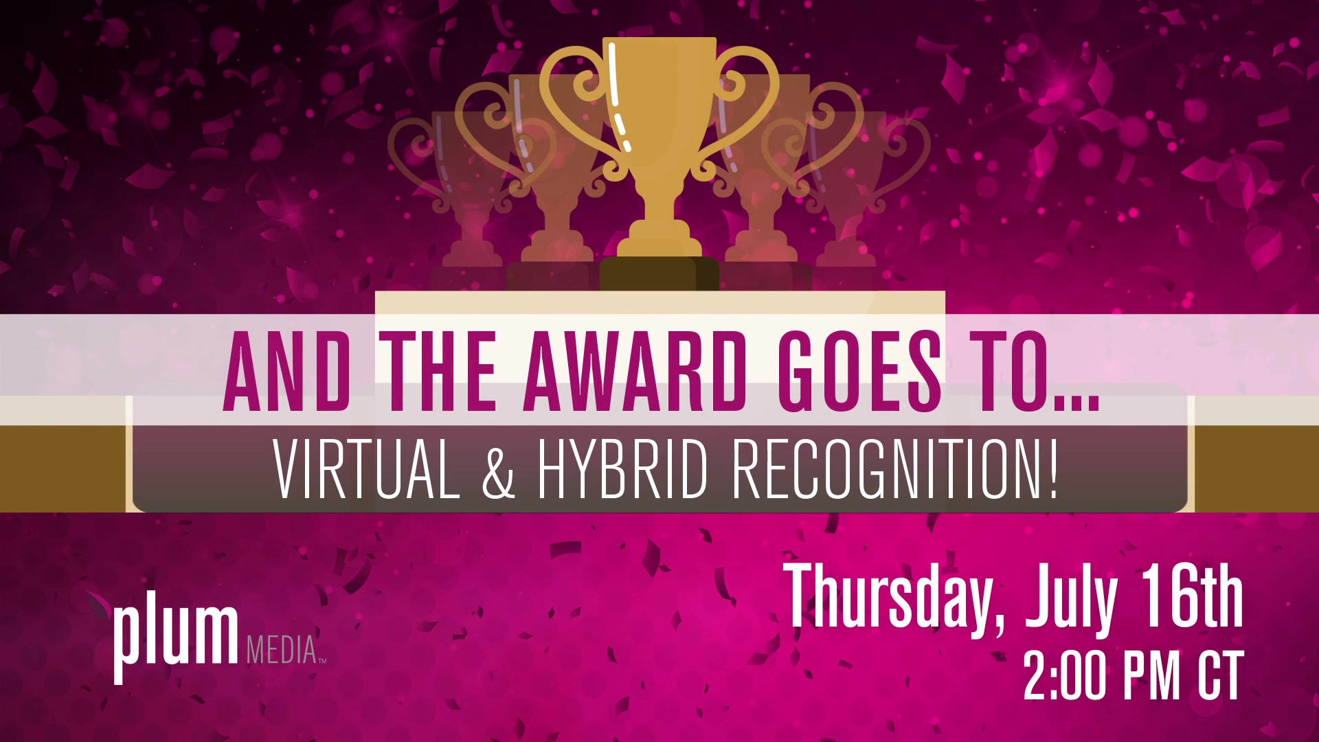 Virtual and Hybrid Recognition Events
